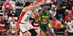 Canada vs Brazil at the FIBA Americas Women 2015